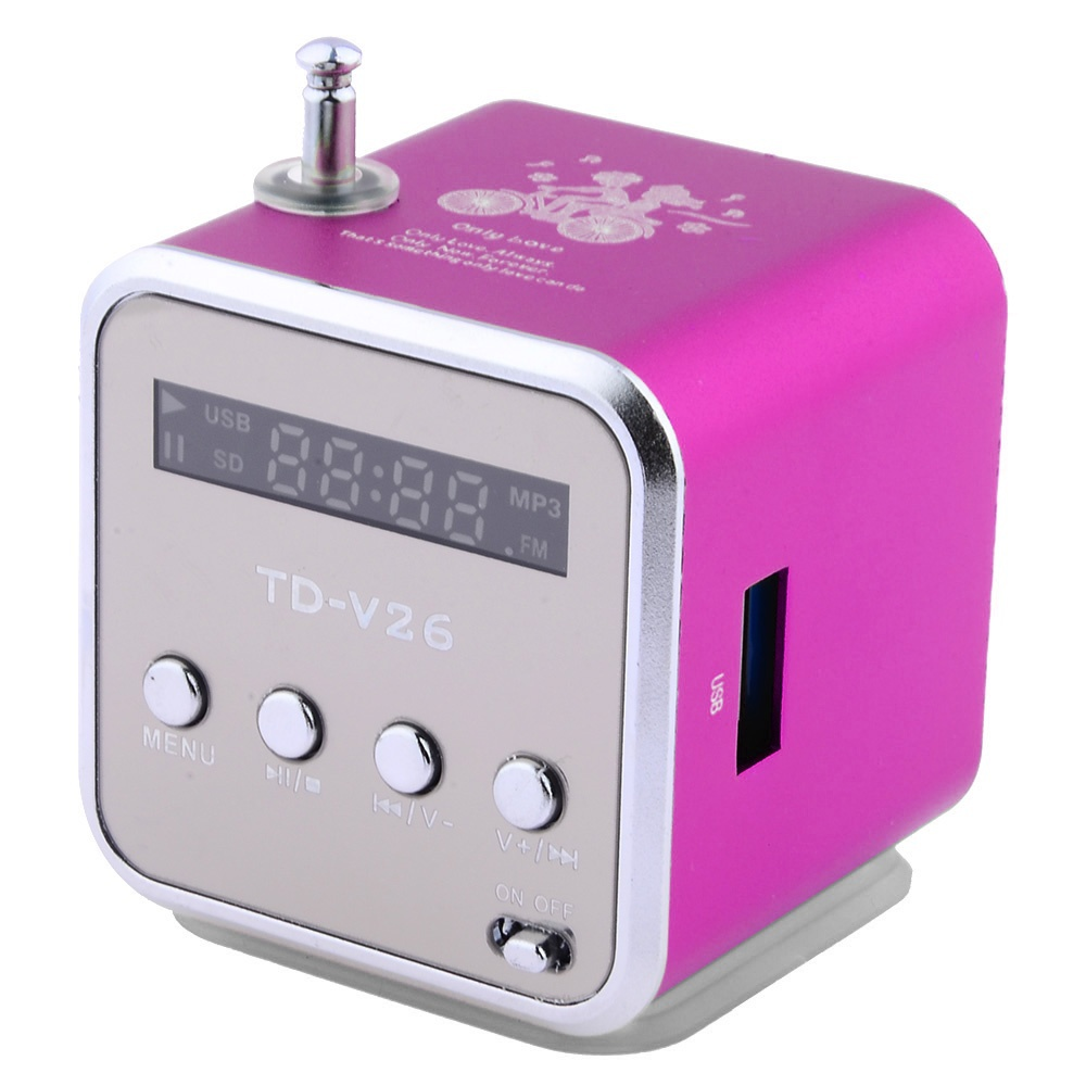 Portable Rechargeable MP3  Music Player SD TF USB PC FM Mini Speaker