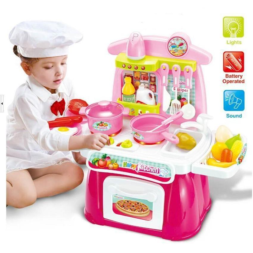 Cook Happy Kitchen PlaySet With Light and Sound