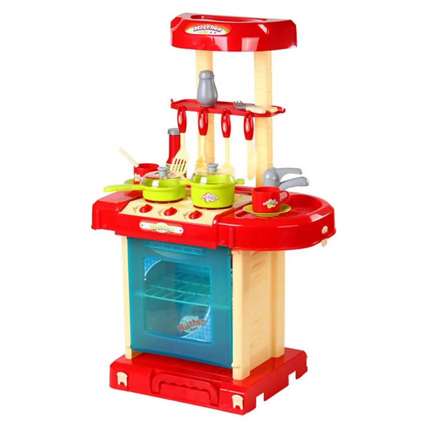 Children Kitchen Playset Red