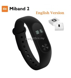 (English Version) Xiaomi MIBAND 2 Heart Rate OLED Display Clock Bluetooth Smartband Wristband (Black)