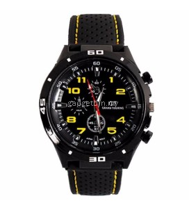 GT GRAND TOURING Military Pilot Silicone Band Quartz Analog Sport Watchc - 6 Options