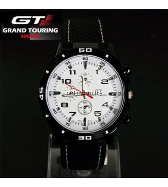 GT GRAND TOURING Military Pilot Silicone Band Quartz Analog Sport Watch- White