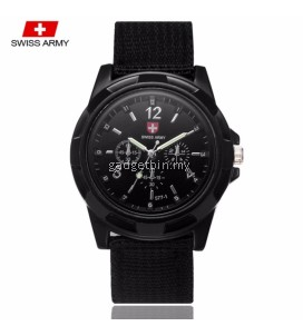 Swiss Army 001 Military Men's Strap 3 Dial Display Fashion Sport Watch
