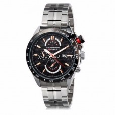 Curren 8148 Men's Silver Stainless Steel Strap Watch (Black Gold) FREE Water Bottle MyBottle