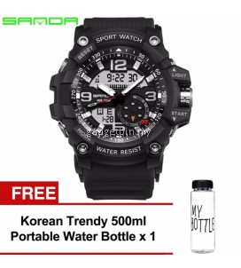 Original SANDA 759 G Style Military Waterproof Sports Men's Shockproof Digital Watch FREE Water Bottle MyBottle