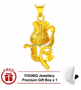 YOUNIQ Premium Only Rose 24K Gold Plated Pendant