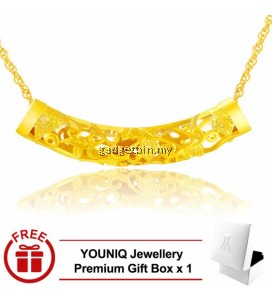 YOUNIQ Premium Fortune Timber 24K Gold Plated Pendant