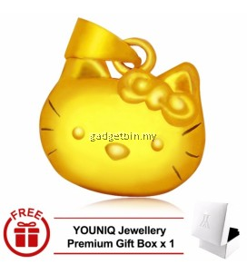 YOUNIQ Premium Little Kitty 24K Gold Plated Pendant