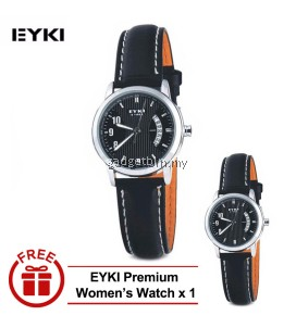 [ BUY 1 FREE 1 ] EYKI E-TIMES UNIQUE Ladies Stainless Steel Watch W8408WH White  - 3 Options
