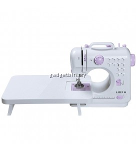 (Msia Plug) Maidronic 505 Pro Upgraded 12 Sewing Options Portable Handheld Sewing Machine (Purple)