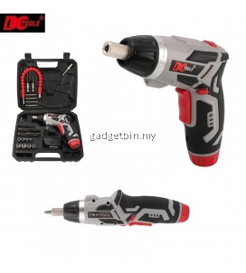 DCTOOLS 46 Pcs in 1 S033 Transformable Cordless Electric Screwdriver Drill Tools Set With Torch Light & Flexible Shaft