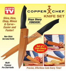 Copper Chef 2-Piece Ever Sharp Knife Set