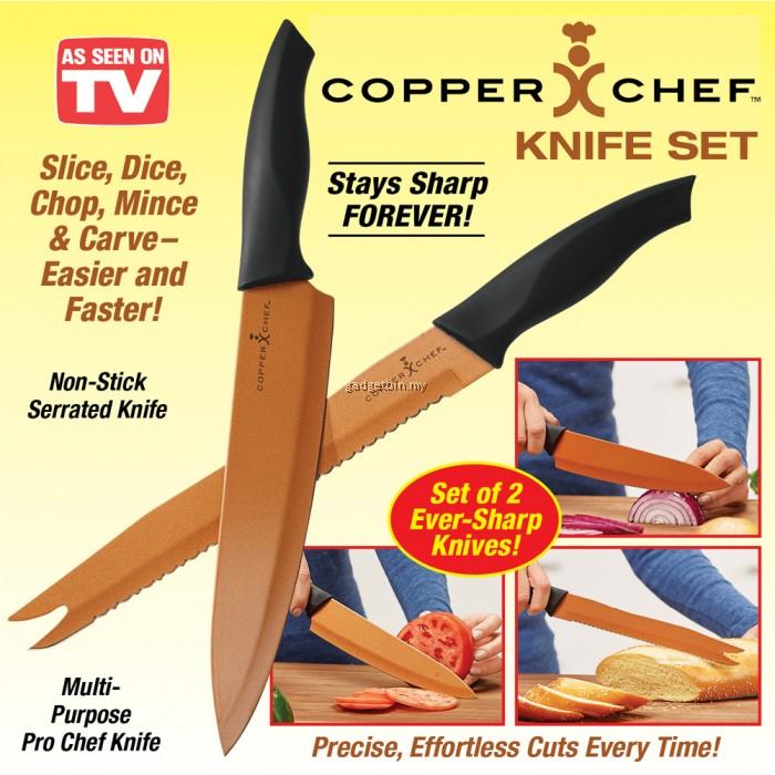 Copper Chef 2 Piece Ever Sharp Knife Set