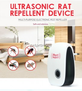 (Msia Plug)Pest Reject Enhanced Version Ultrasonic Anti Mosquito Rat Mouse Cockroach Pest Insect Repellent