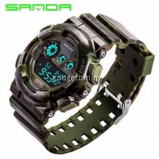 SANDA 289 Waterproof Outdoor Multifunctional Sports Men's Quality Shockproof Digital Watch