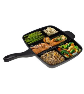 Multifunction 5 in 1 Non-Stick Divided Grill/Fry/Oven Pan / Meal Skillet Cooking Pan