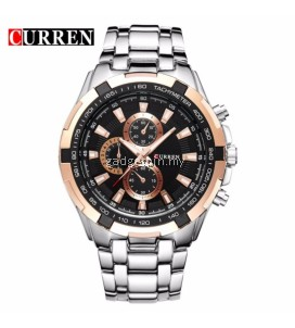 Curren 8023 Men's Stainless Steel Watch (Gold Black Silver)