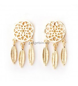YOUNIQ Basic Korean Dream Catcher Drop Earring (Rosegold)