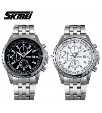 SKMEI 6865 Men's Military Sports Calendar Quartz Stainless Steel Watch