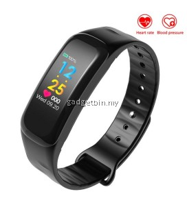 C18 Blood Pressure Heart Rate Monitor Color Display Smart Band Support IOS Android