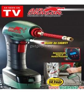 Air Dragon Portable Digital Display Air Compressor Auto Tire Inflator Balls Mattress Toys Pump Emergency Tool