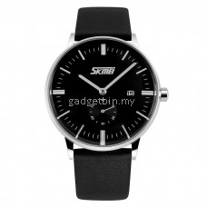 SKMEI 9083 Men's Classic Calendar Quartz Leather Watch