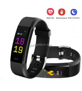 115 Plus Heart Rate Monitor Blood Pressure Monitor Color Screen Activity Tracker Smart Band