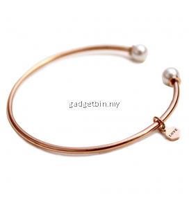 YOUNIQ Pearl Love 18K Rosegold Titanium Cuff Bracelet