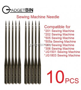 Sewing Machine Needles (10 PCS) Compatible For 201 202 505 505a JG1501 Sewing Machine