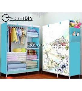 3D Pattern King Size Waterproof Dust Cover Curtain Wardrobe 3D-2