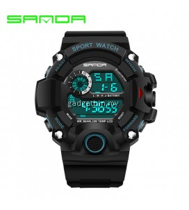 SANDA 326 Waterproof Outdoor Multifunctional Sports Men's Quality Shockproof Digital Watch Black / Gold / Red /  Blue