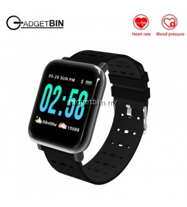 A6 Heart Rate Blood Pressure Monitor Sport Fitness Tracker Smart Watch For IOS Android