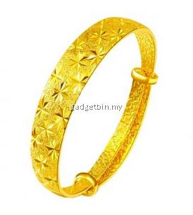 YOUNIQ Premium Classical 24K Gold Plated Bangle