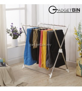 Multifunctional Foldable Cloth Pant Stainless Steel Hanging Rack XRack
