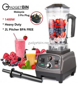 Professional 1400W Heavy Duty Juicer Commercial Blender 2L BPA FREE For Smoothies, Ice Cream, Raw Vegetables And Milkshakes