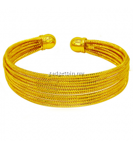 YOUNIQ Premium Lining 24K Gold Plated Cuff Bracelet
