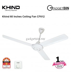 Khind CF612 Ceiling Fan 60 Inch Strong Air Delivery With 5 Stars Energy Saving