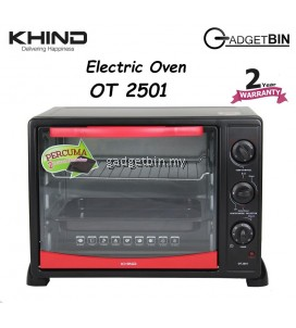 KHIND OT2501 Multifunction Electric Oven 25L with Rotisserie Handle