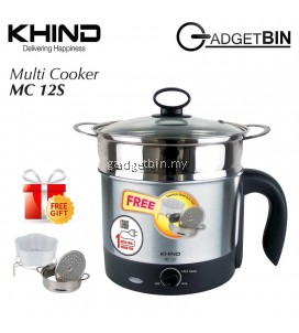 Khind MC12S Stainless Steel Multi Cooker 1.2L
