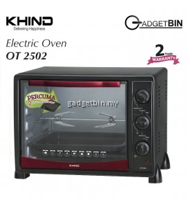 KHIND OT2502 Electric Oven 25L With Rotisserie Handle