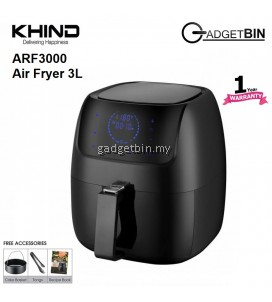 Khind ARF3000 Digital Display Air Fryer 3L