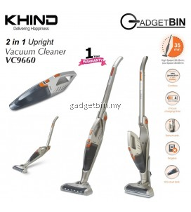 KHIND VC9660 2 in 1 Rechargeable Cordless Upright Vacuum Cleaner For Home & Car