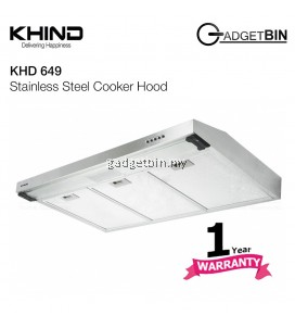 Khind KHD649 Stainless Steel Slim Cooker Hood