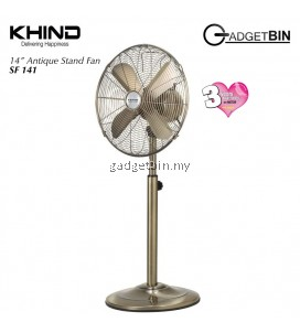 "KHIND SF141 Antiques Stand Fan 14"" Full Metal Body"