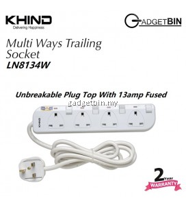 Khind LN8134W 4 Ways Gang Trailing Socket ( Extension Cord )