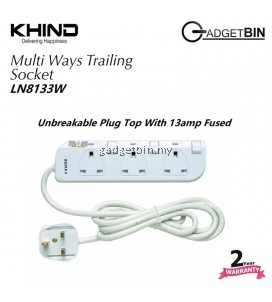 Khind LN8133W 3 Ways Gang Trailing Socket ( Extension Cord )