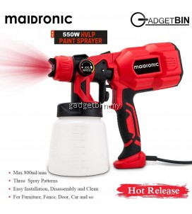 Maidronic 3-Way Copper Nozzle HVLP Paint Sprayer 550W better than Paint Zoom