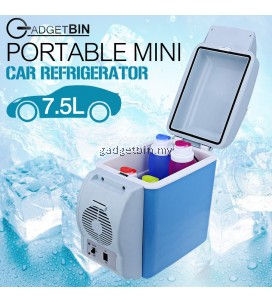 Gadgetbin 7.5L Portable Mini Travel Car Fridge Refrigerator Sealed Insulation Box With Cooling and Warming Functions
