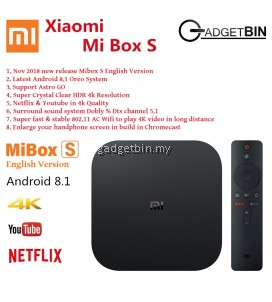 (English UI International Version) Xiaomi Mi Box 3 Mibox 3 Smart WIFI Bluetooth 4K HDR Android 8.1 TV Box