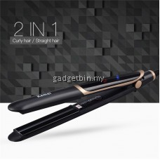 Kemei KM2219 2 in 1 Far-infrared Flat Iron Hair Straightener Curl Hair Iron Professional Tourmaline Ceramic Anion Hair Styling Tool F-HS262H